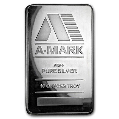 10 oz Silver Bar - A-Mark - SKU#169721