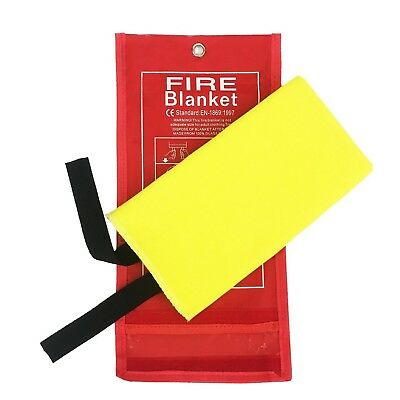 Tonyko Advanced Fiberglass Fire Blanket With Smooth Silica Coating for Emergency