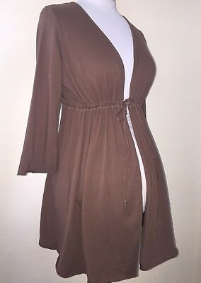 NEW WITH TAG OLD NAVY MATERNITY Small Brown 100% Cotton Cardigan NWT