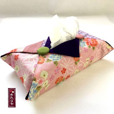 0403 Pocket Tissue Cover Handmade Japanese fabrics Sakura Black Holders F//S!