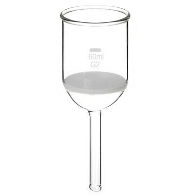 StonyLab Borosilicate Glass Buchner Filtering Funnel with Medium Frit, 30mm Disc