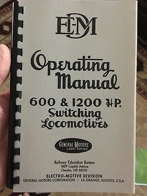 GM Operators Manual for 600/1200 HP Switcher 1950 C9