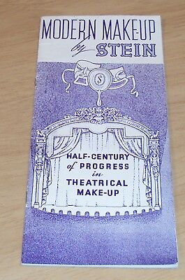 """VTG 1936 Theatre Guide/Catalog~""""MODERN MAKE-UP by STEIN""""~Price List~ILLUSTRATED~"""