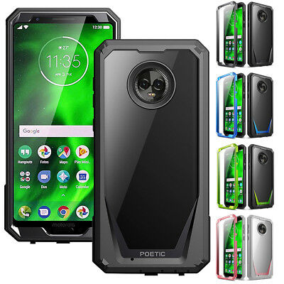 sale retailer 62838 f8069 FOR MOTOROLA MOTO G6 Rugged Case Poetic Guardian Shockproof TPU Cover 4  Colors