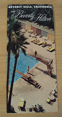 "VTG 1950's Hotel ADVERTISING Brochure~""The BEVERLY HILTON""~Beverly Hills CA~"
