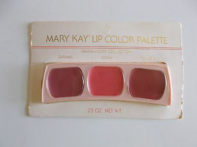 Vintage Mary Kay Lip Color Palette Warm Ivory Collection Caramel, Coral, Salmon