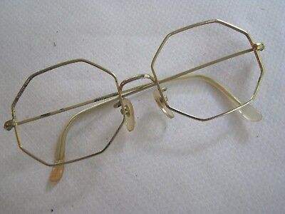 VINTAGE Octagon Eyeglasses GF GOLD WIRE FRAMES Very Classy NO LENSES COTTET?