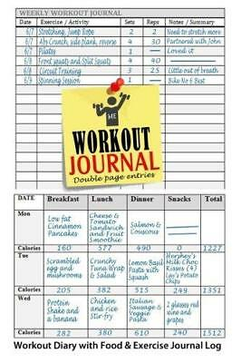 workout journal workout diary with food exercise journal log