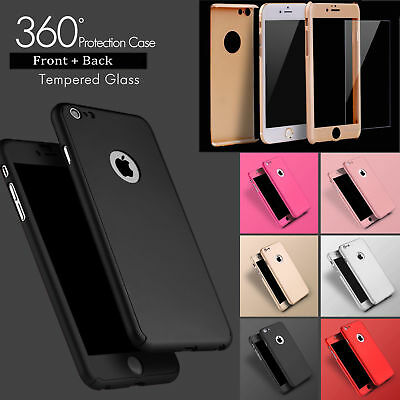 Hybrid New Shockproof Case Tempered Glass Cover For iPhone x 8 7 6 5 SE