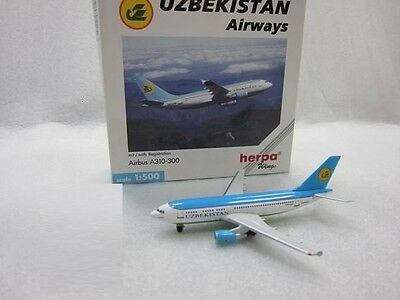 Herpa Wings 512527 Uzbekistan Airway  Airbus A310-300 Discontinued  RARE Model