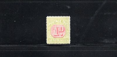 Australia 1922 1d Postage Due wmk Crown over A SG D92 MVLH