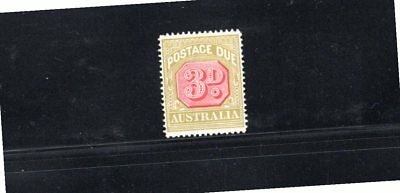 Australia 1922 3d Postage Due wmk Crown over A SG D95 MH