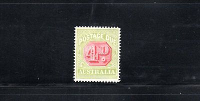 Australia 1922 4d Postage Due wmk Crown over A SG D96 MH
