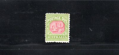 Australia 1922 4d Postage Due wmk Crown over A p 11 SG D98 MUH