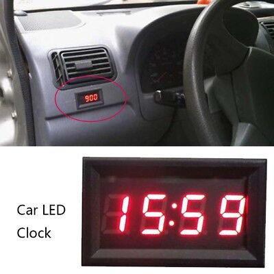 Car Scooter Motorcycle Accessory 12V/24V Dashboard LED Display Digital Clock HQ