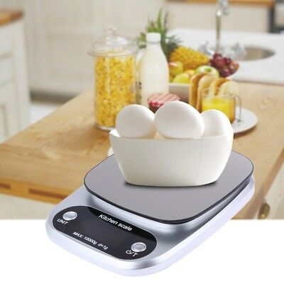 Kitchen Food Baking Weight Digital LCD Electronic Weighing Scale 10kg A1Q5