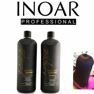Inoar Moroccan Brazilian Keratin Treatment Blow Dry Hair Straightening 150Ml Kit