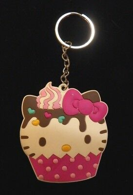 Hello Kitty by Sanrio Chocolate Cupcake Rubber Keychain