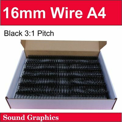 """16mm 5/8"""" TWIN LOOP BINDING WIRE 3:1 Pitch 34 Loop Box of 50 - White"""