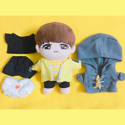 20cm KPOP BTS Plush JJOKKO JUNGKOOK Doll Toy with 2sets Clothes Limited Gift