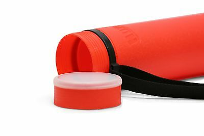 """Nozlen Document Poster Tube - Red Plastic Storage Tube Expands from 24.5"""" up to"""