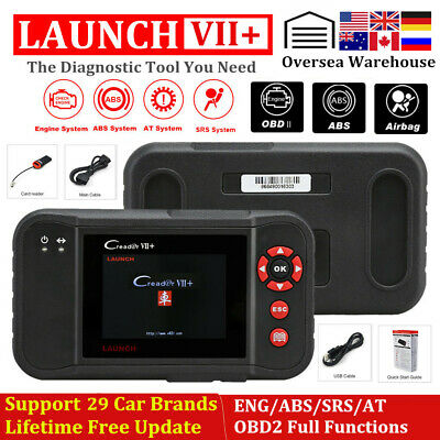LAUNCH Creader VII+ OBD2 Diagnostic Tool Scanner As CRP129 ABS SRS Engine Airbag