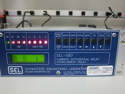 Schweitzer (SEL) Current Differential / Overcurrent Relay - SEL-587 - 05870W3X5X