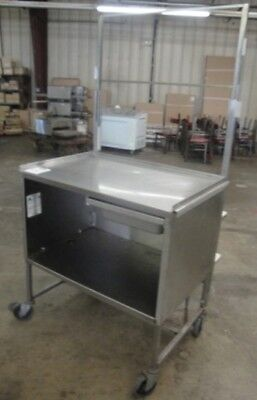 "Restaurant Equipment 36"" STAINLESS STEEL DISPLAYING MERCHANDISING CART ON ROLLER"