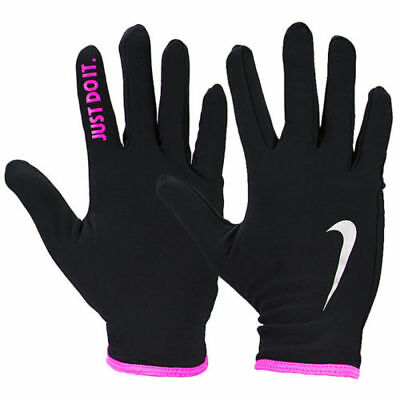 Running Gloves Nike Rival Black Pink Womens Lightweight Thermal Small