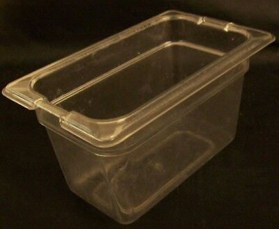 "Restaurant Equipment 3 POLYCARBONATE STEAM TABLE PANS 1/9TH SIZE 4"" Clear"