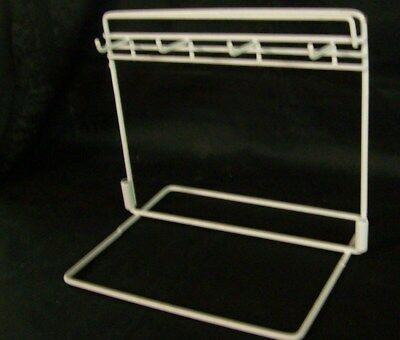 "Store Display Fixtures 4 HOOK WIRE COUNTERTOP PEG DISPLAY White 10"" wide"