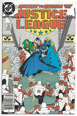 Justice League #3 newsstand - Giffen - Maguire - 1987 - Near Mint