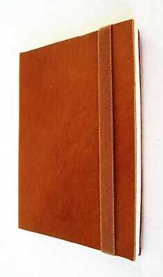Journal notebook Blank Leather Handmade Pocket Notebook 100 pg. Elastic strap