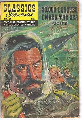 Classics Illustrated Spring 1970 #47 HRN 169 20,000 Leagues Under The Sea