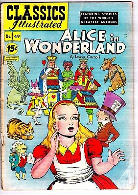 Classics Illustrated July 1948 #49 HRN 85 Alice In Wonderland Lewis Carroll