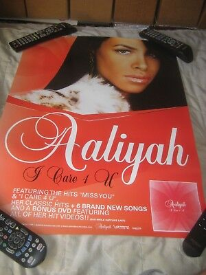 Aaliyah-(I care 4 U)-1 POSTER-18X24 INCHES-NMINT-RARE