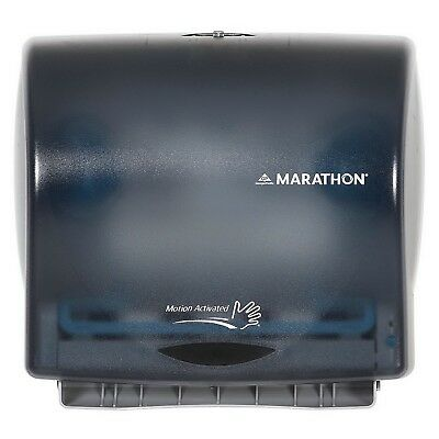 Marathon Automated Touchless Hand Towel Dispenser 350 ft. Roll Capacity Smoke