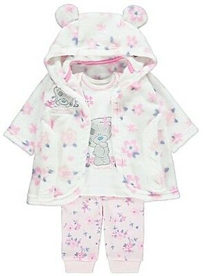 Me to You Tatty Teddy Baby Girls Dressing Gown & Pyjamas 3-9 Months New