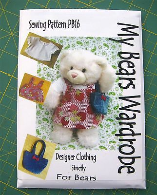 SEWING PATTERN toy Teddy Bear Clothes fits build a bear by MY Bears ...