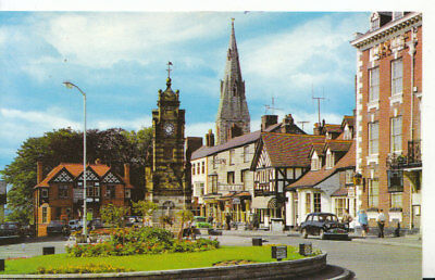 Wales Postcard - St Peter's Square - Ruthin - Denbighshire - Ref 641A