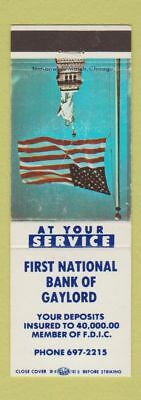 Matchbook Cover - First NATional Bank of Gaylord MI?