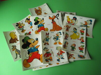 Vintage Lot Of 15 Disney Stickers Sheets Art Deco Cals Italy New - Last One