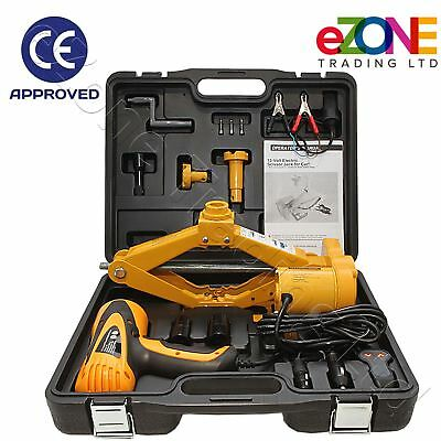 Electric Car Jack and Impact Wrench Option 2.5 Tonne Vehicle Van SUV CE Approved
