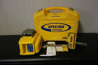Spectra Precision Ll400 Self Leveling Rotary Laser Level Hl 700 Recevier