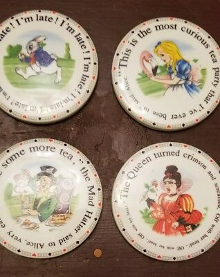 Alice in Wonderland's Teaparty Cafe Cardew Design 2010 Drink Coasters Set of 4