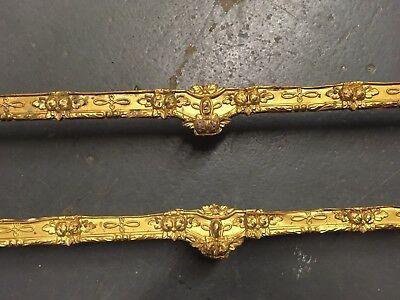 Antique Early 19th Century Embossed Pressed Gilt Wash Brass Drape Valance