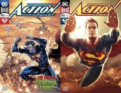 Action Comics #999 A & #999 B Kaare Andrews Variant Set  Countdown 1000