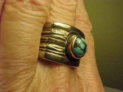 Frank Patania Jr. Sterling 18K Turquoise Ring