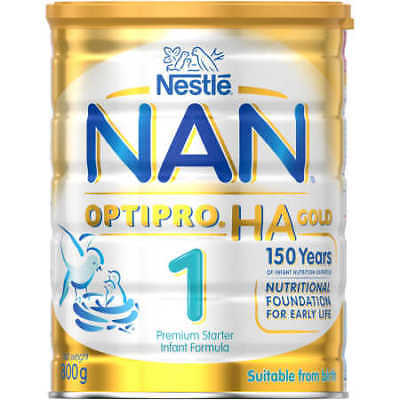 Nestle NAN OPTIPRO HA Gold Stage 1 Starter Infant Formula Powder Tin - 800g
