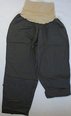Plus Size Maternity Size 2X Oh Baby by Motherhood Convertible Pants/Capris Gray